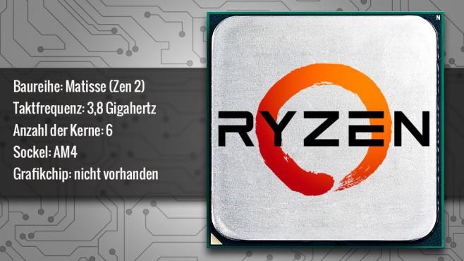 AMD Ryzen 5 3600X (Matisse) ©AMD, COMPUTER BILD