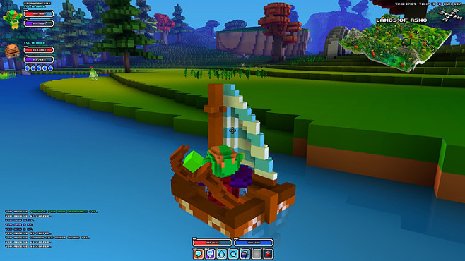 Rollenspiel Cube World: Boot ©Picroma