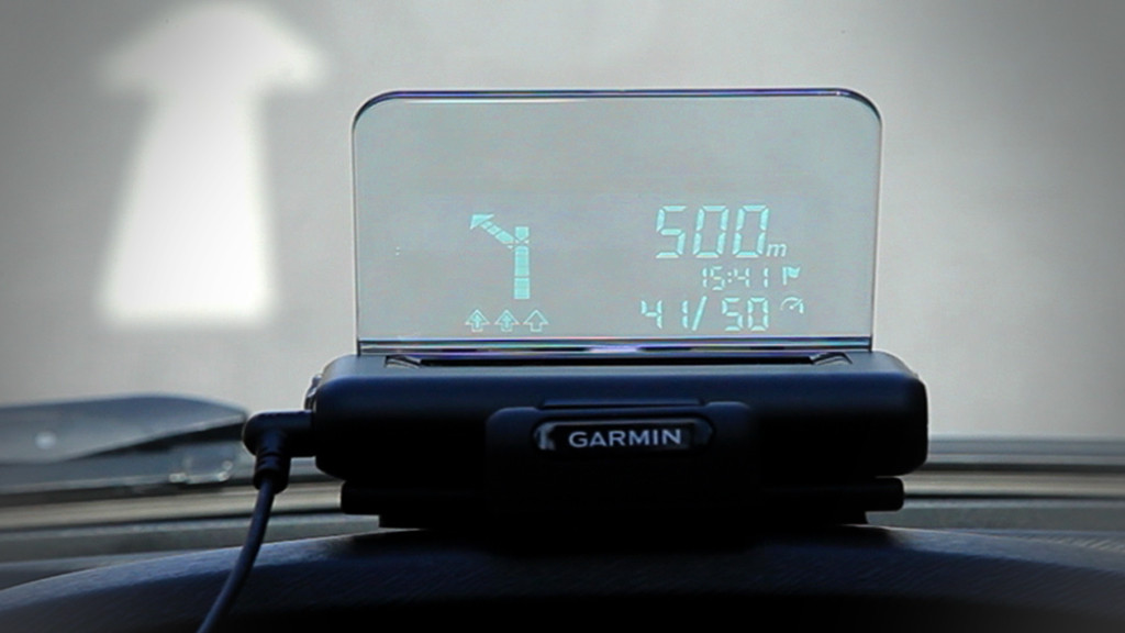 garmin head up display hud f r smartphone navigation. Black Bedroom Furniture Sets. Home Design Ideas