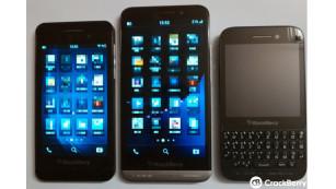 Vergleich: BalckBerry Z10, Z30, Q5©Kevin Michaluk - CrackBerry