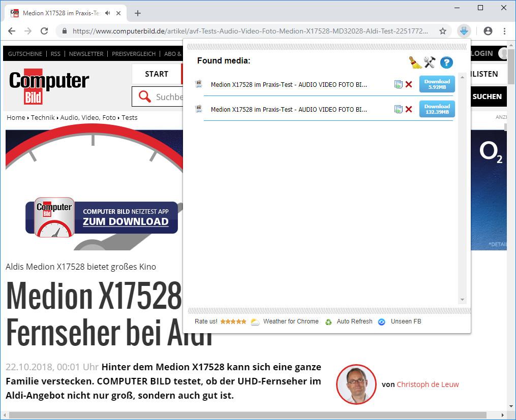 Screenshot 1 - Flash Video Downloader für Chrome