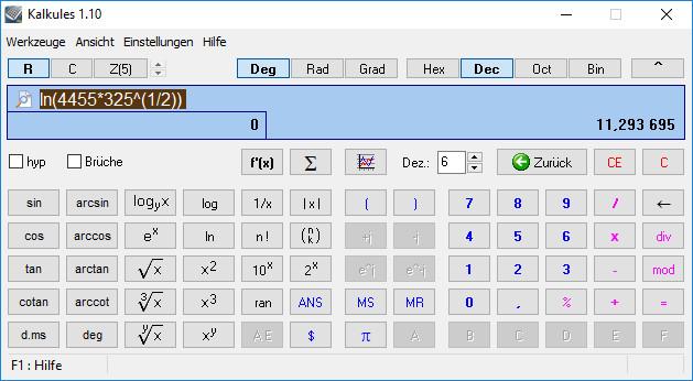 Screenshot 1 - Kalkules