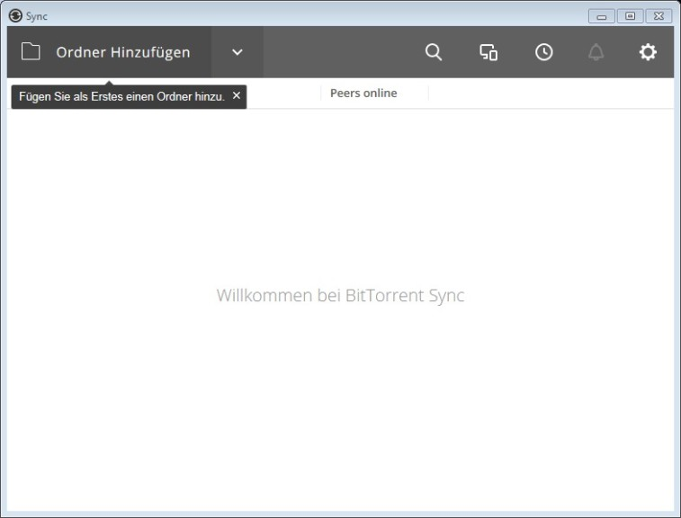 Screenshot 1 - Resilio Sync