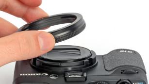 Abnehmbarer Ring an der Powershot G16©COMPUTER BILD