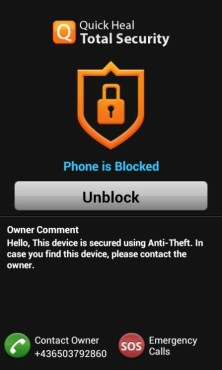 Quick Heal Mobile Security Lock ©Quick Heal; AV-Comparatives