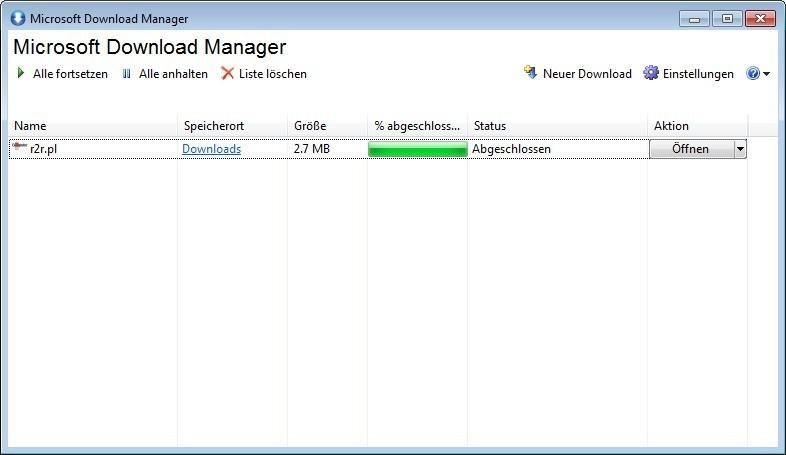 Screenshot 1 - Microsoft Download Manager