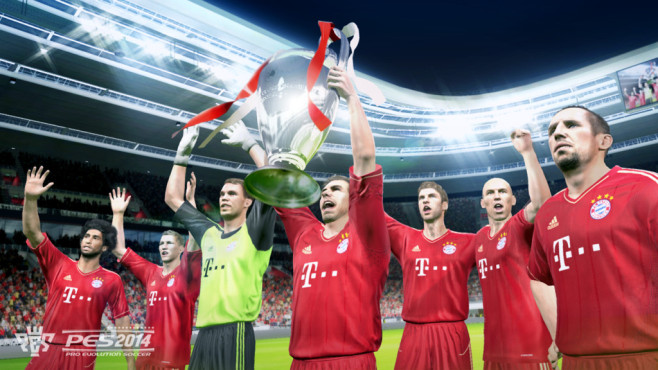Fußballspiel PES 2014: Bayern©Konami
