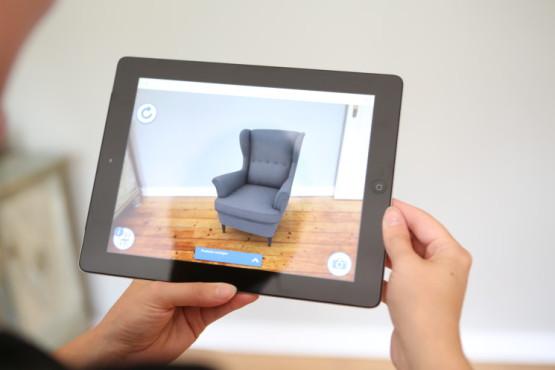 Ein virtueller Sessel im Raum ©COMPUTER BILD