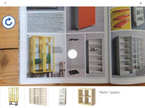 Screenshot: Produktauswahl in 3D ©COMPUTER BILD