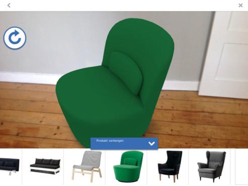 Screenshot Sessel grün ©COMPUTER BILD