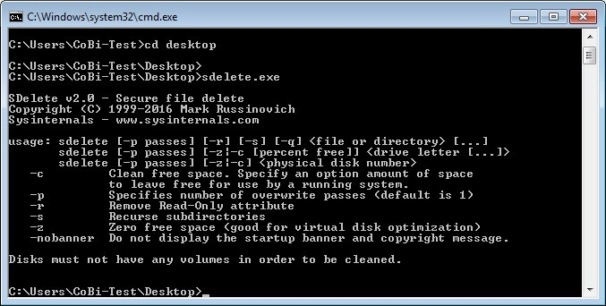Screenshot 1 - SDelete