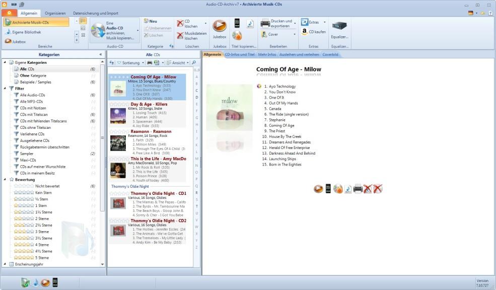 Screenshot 1 - Audio-CD-Archiv