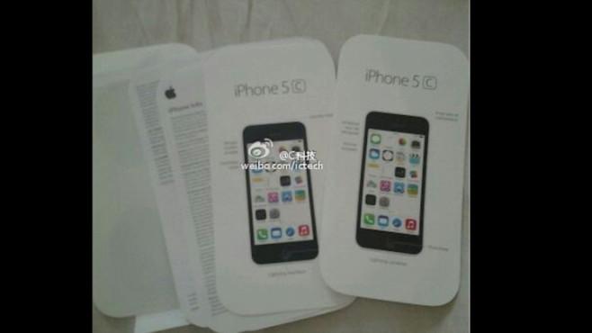 iPhone 5C-Handbuch aufgetaucht ©Sina Weibo