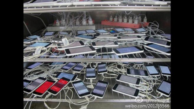 iPhone-Zulieferer veröffentlicht Test-Bilder vom iPhone 5c ©Sina Weibo