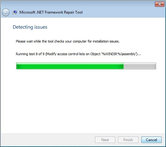 Screenshot 1 - Microsoft .NET Framework Repair Tool