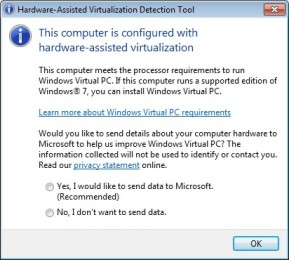 Microsoft Hardware-assisted Virtualization Detection Tool