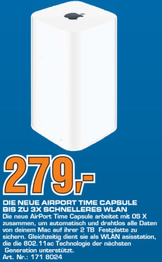 Apple AirPort Time Capsule 2TB (ME177Z/A) ©Saturn