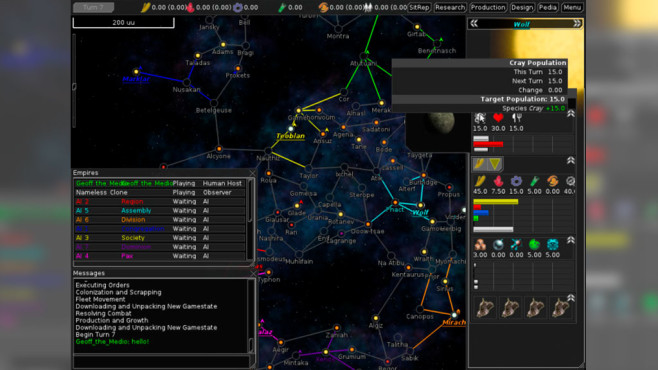 Strategiespiel Free Orion © The FreeOrion Team