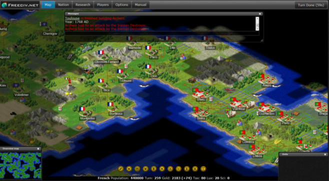 Strategiespiel Freeciv © Freeciv.org