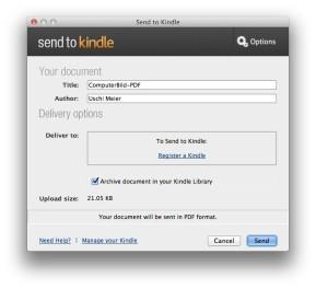 Send to Kindle (Mac)
