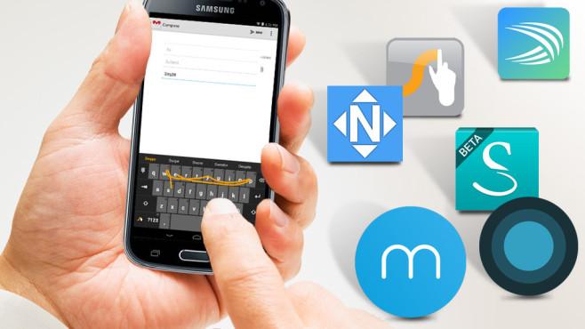 SwiftKey, Swype & Co.: Tastatur-Alternativen für Android©Yuji Sakai/gettyimages, Fleksy, Nuance Communications, Whirlscape, SwiftKey, MyScript, NextApp,