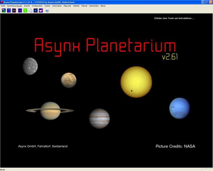 Screenshot 1 - Asynx Planetarium