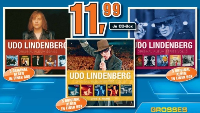Udo Lindenberg Original-Album-Boxen ©Saturn