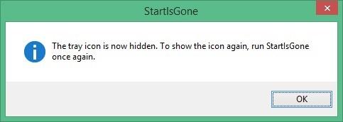Screenshot 1 - StartIsGone
