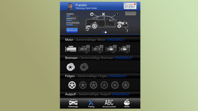 Anwendung GTA 5 – iFruit: Customs ©Rockstar Games