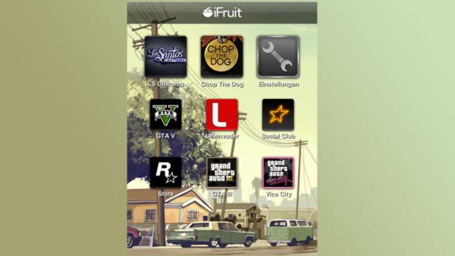 Anwendung GTA 5 – iFruit: Oberfläche ©Rockstar Games
