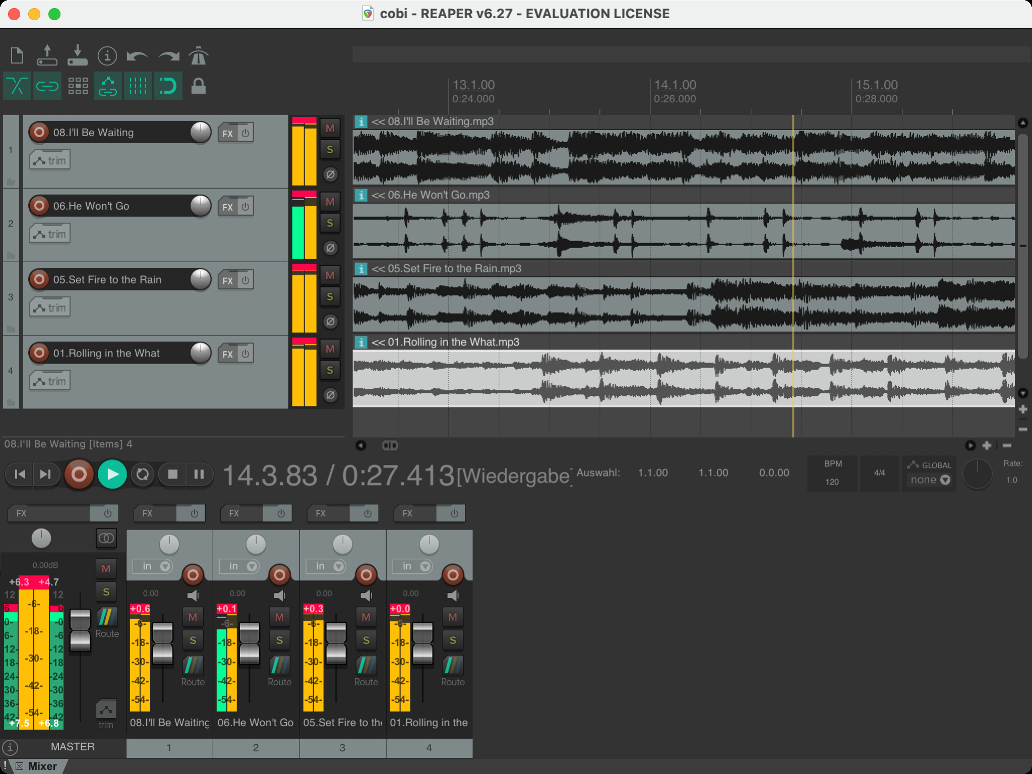 Screenshot 1 - Reaper (Mac)