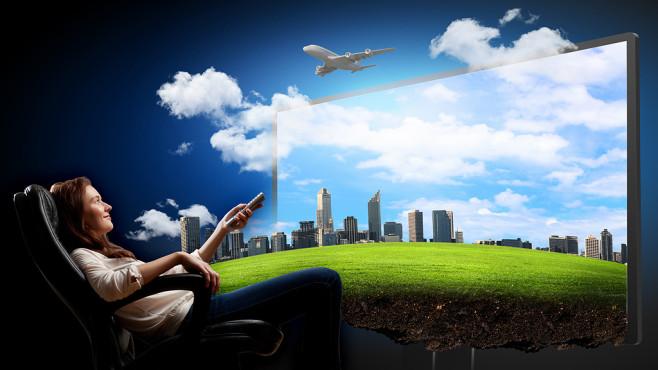 3D-TV: Es geht auch ohne Brille©Sergey Nivens - Fotolia.com