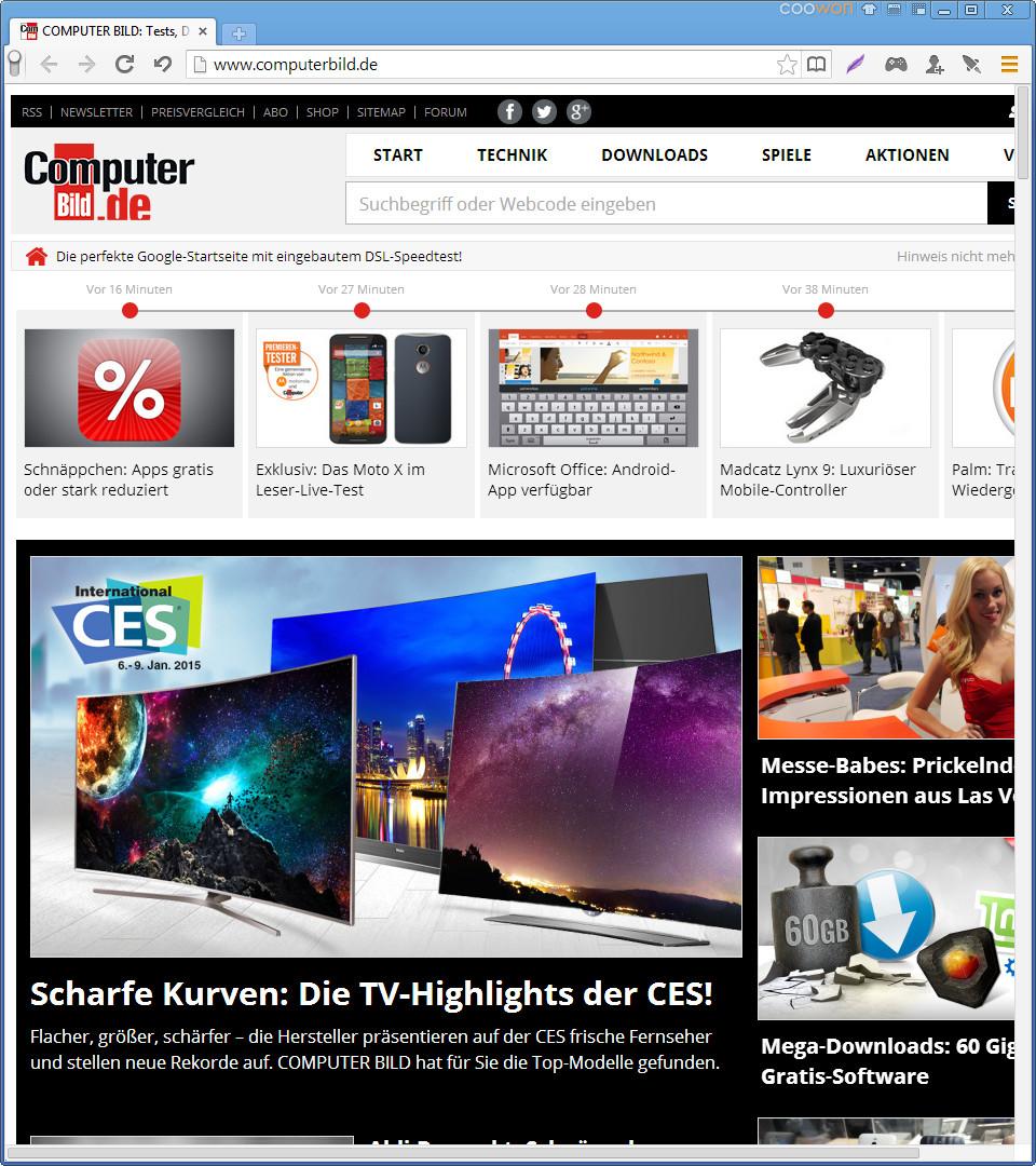 Screenshot 1 - Coowon Browser