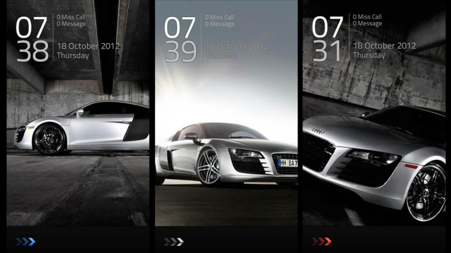 "Audi Lock Screen Theme (""Go Locker""-Theme) © DROID LINK GO LOCKER"