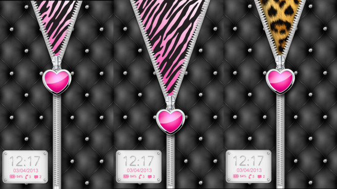 Heart Zipper Lock Screen © Jellytap