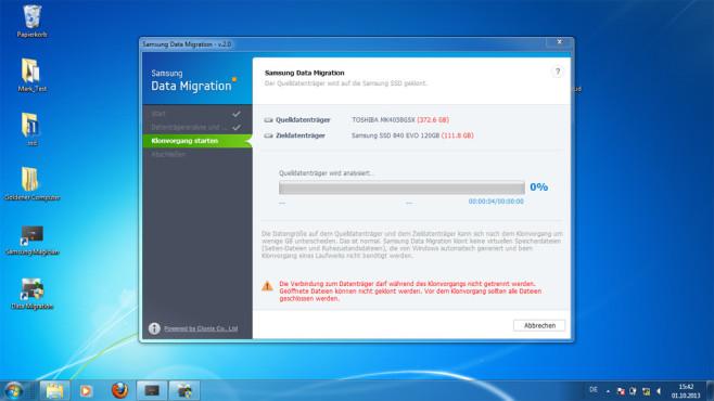 Samsung Data Migration Klonen ©COMPUTER BILD