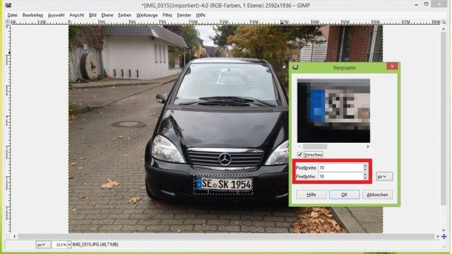 Ganz leicht: So verpixeln Sie Bilder mit GIMP ©COMPUTER BILD