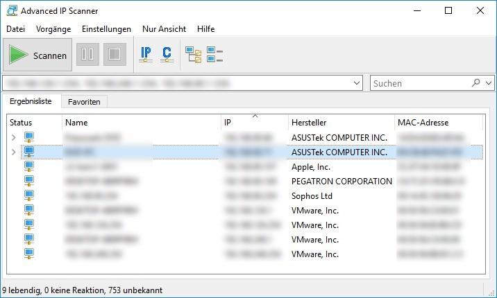 Screenshot 1 - Advanced IP Scanner
