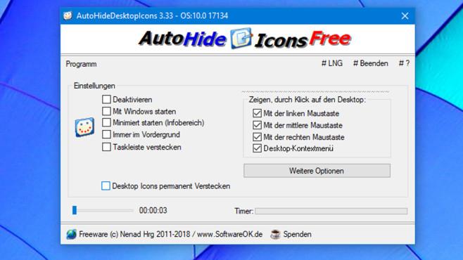 AutoHideDesktopIcons: Desktop-Symbole verstecken ©COMPUTER BILD