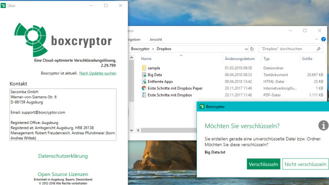 BoxCryptor: Dropbox & Co. verschlüsseln ©COMPUTER BILD
