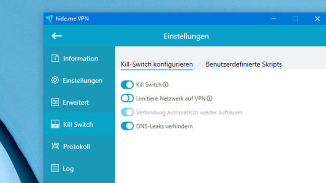 Hide.me VPN: Anonymisierer mit Kill-Switch © COMPUTER BILD