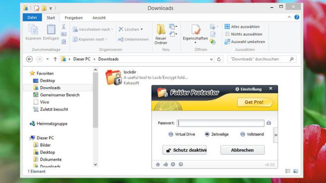 KaKa Folder Protector: Ordner-Inhalte schützen ©COMPUTER BILD