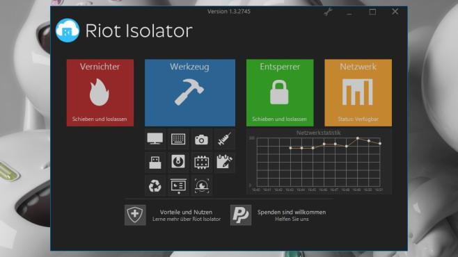 Riot Isolator: Werkzeugkasten samt Schredder ©COMPUTER BILD