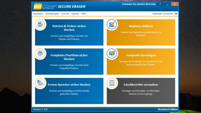Secure Eraser: Dateien unwiderruflich löschen ©COMPUTER BILD