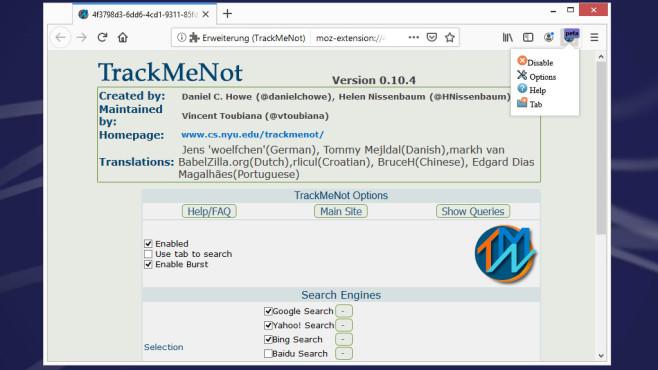 TrackMeNot: Google, Bing, Yahoo verwirren ©COMPUTER BILD