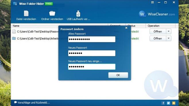 Wise Folder Hider: Dateien und Ordner verstecken ©COMPUTER BILD