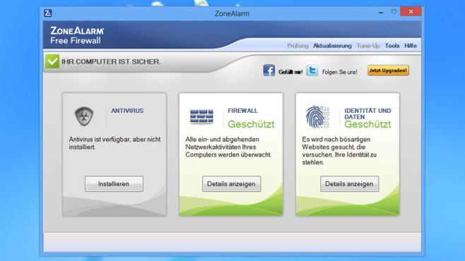 ZoneAlarm Free Firewall: Schutz vor Hackern und Spionage ©COMPUTER BILD