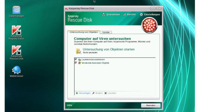 Kaspersky Rescue Disk: Virenscanner mit Browser ©COMPUTER BILD