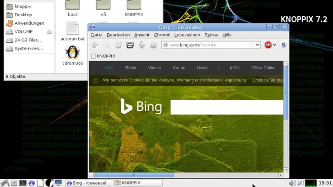 Knoopix: Live-System mit Browser-Schutz ©COMPUTER BILD