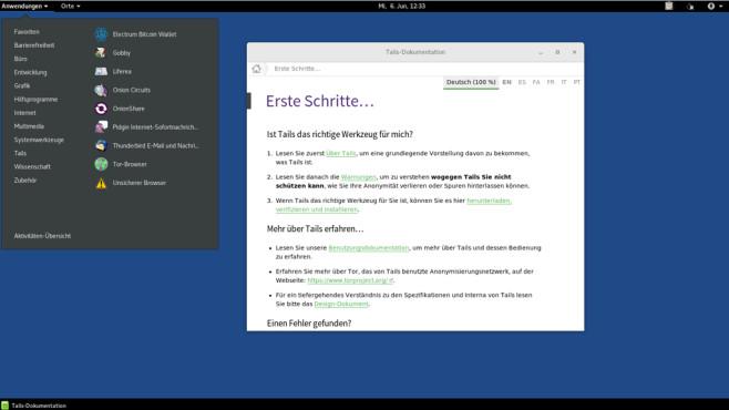 Tails: Live-System mit Verschlüsselung und Anonymisierung ©COMPUTER BILD